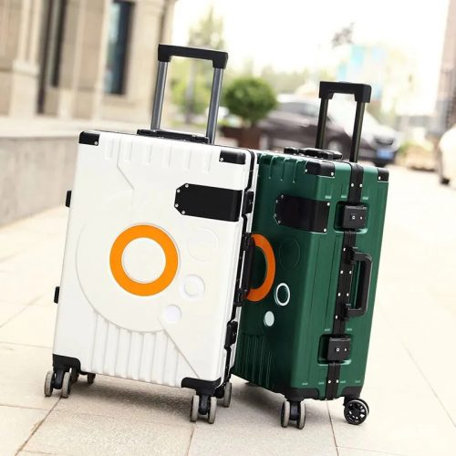 Travel Rolling Suitcase With Aluminum Frame