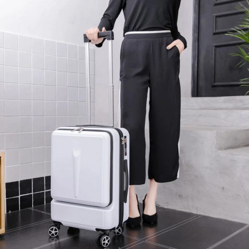 Wheels Suitcase With Front Pocket