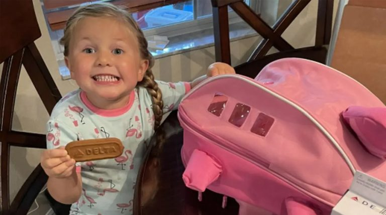 Delta Air Lines Gifts Care Package To 3-Year-Old Girl Named Delta
