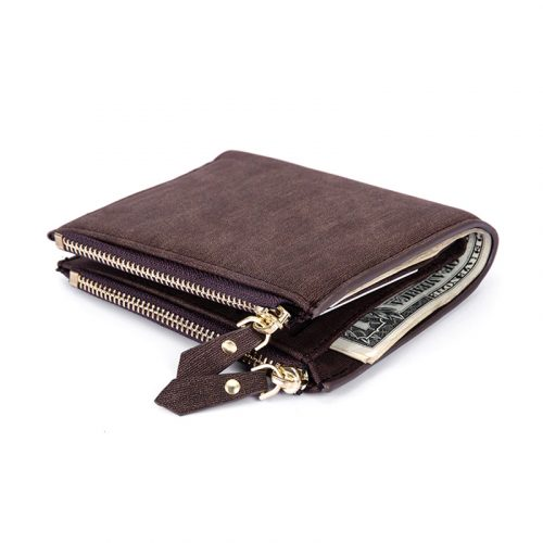 RFID Wallet For Men With Zippers